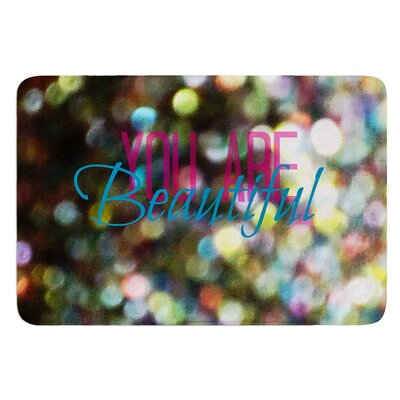 You Are Beautiful II by Robin Dickinson Bath Mat