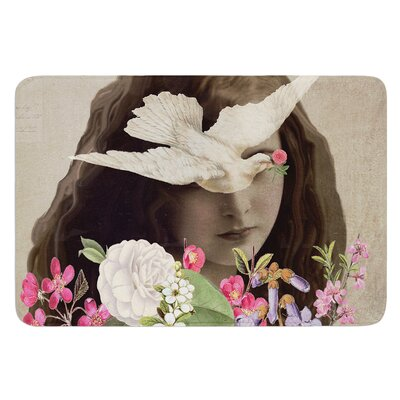 Doves Eyes by Suzanne Carter Bath Mat
