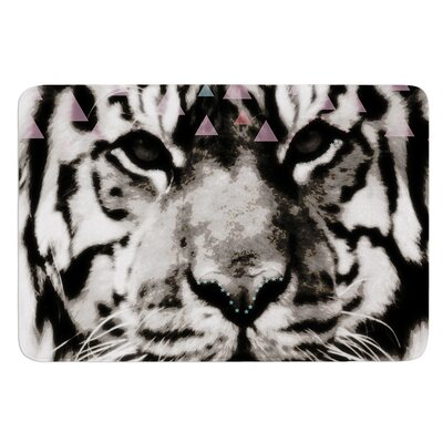 Tiger Face by Suzanne Carter Bath Mat