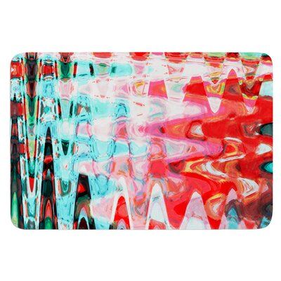Aqua Wave by Suzanne Carter Bath Mat