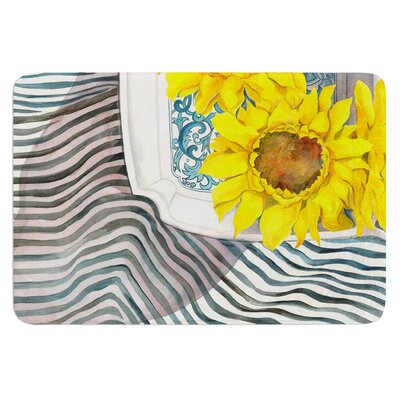 Finall Sunflower by S. Seema Z Bath Mat