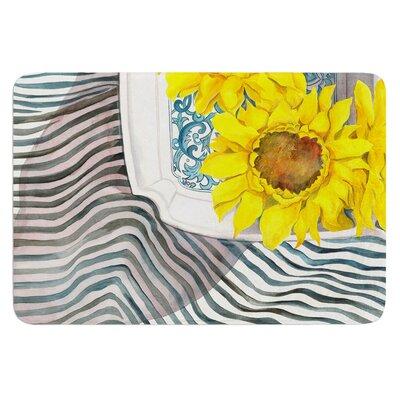 Finall Sunflower by S. Seema Z Bath Mat