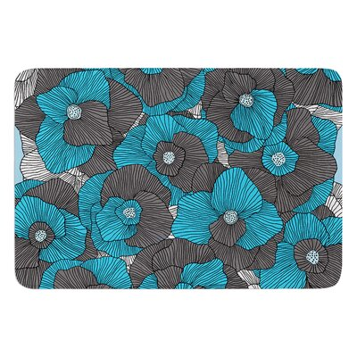 In Bloom by Skye Zambrana Bath Mat Color: Blue/Gray