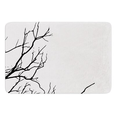 Winter by Skye Zambrana Bath Mat Color: Black