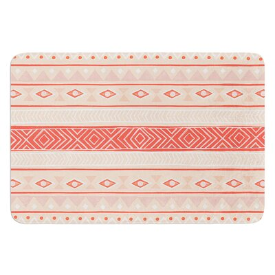 Mojave by Skye Zambrana Bath Mat Color: Black/Red