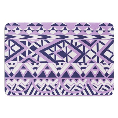 Tribal Simplicity by Pom Graphic Design Bath Mat Color: Purple/White