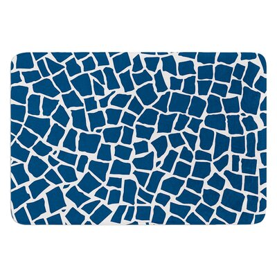 British Mosaic by Project M Bath Mat Color: Navy