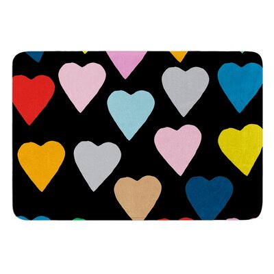 Hearts by Project M Bath Mat Color: White