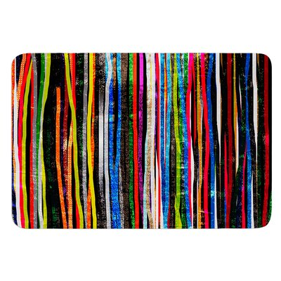 Fancy Stripes by Frederic Levy-Hadida Bath Mat Color: Purple, Size: 17W x 24L