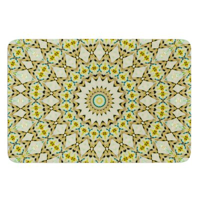 Kaleidoscope by Iris Lehnhardt Bath Mat Color: Green, Size: 24 W x 36 L