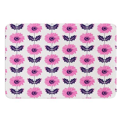 Gerbera by Laura Escalante Bath Mat Color: Purple