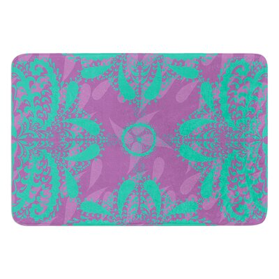 Motifs by Nandita Singh Bath Mat Color: Green