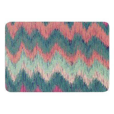Ikat Chevron by Nika Martinez Bath Mat Color: Teal