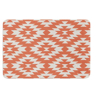 Navajo by Amanda Lane Bath Mat Color: Black/Cream, Size: 17W x 24L