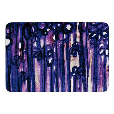 Winter Garden Ombre by Ebi Emporium Bath Mat Color: Violet, Size: 24 W x 36 L