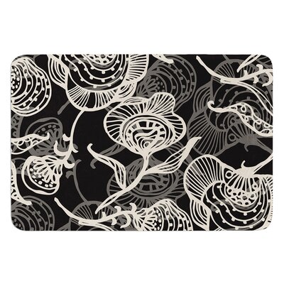 Future Nouveau by Gill Eggleston Bath Mat Color: Black, Size: 17W x 24L