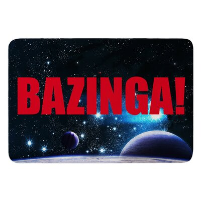 Bazinga InHouse Bath Mat Color: Red, Size: 17W x 24L