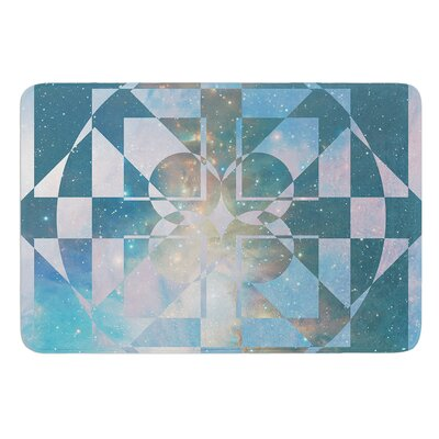 Galactic Hope by Matt Eklund Bath Mat Color: Red