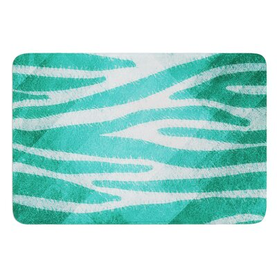 Zebra Print Texture by Nick Atkinson Bath Mat Color: Blue
