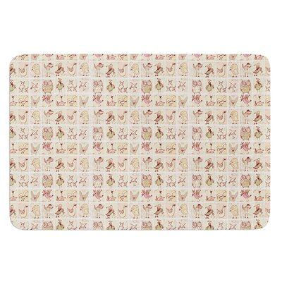 Cute Birds by Marianna Tankelevich Bath Mat Color: Cream