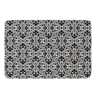 Diamond Illusion Damask by Mydeas Bath Mat Color: Black/White, Size: 24 W x 36 L