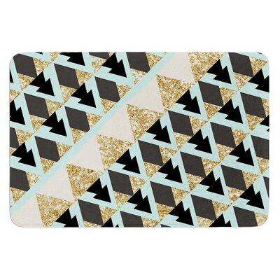 Glitter Triangles by Nika Martinez Bath Mat