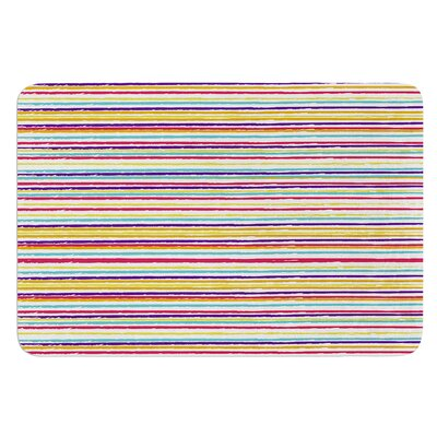 Summer Stripes by Nika Martinez Bath Mat