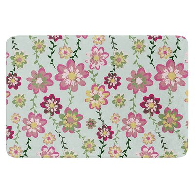Romantic Floral by Nika Martinez Bath Mat