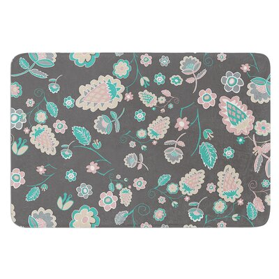 Cute Winter Floral by Nika Martinez Bath Mat
