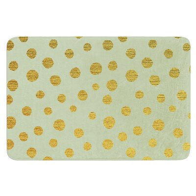 Golden Dots by Nika Martinez Bath Mat