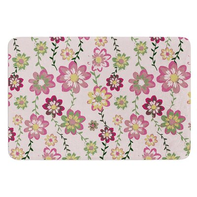 Romantic Flowers by Nika Martinez Bath Mat