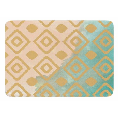 Watercolor Ikat by Nika Martinez Bath Mat