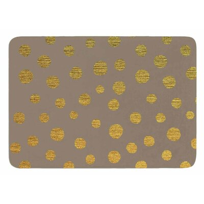 Earth Golden Dots by Nika Martinez Bath Mat