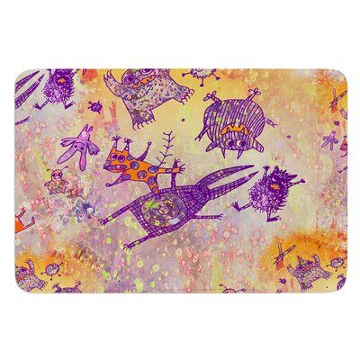 Levitating Monsters by Marianna Tankelevich Bath Mat