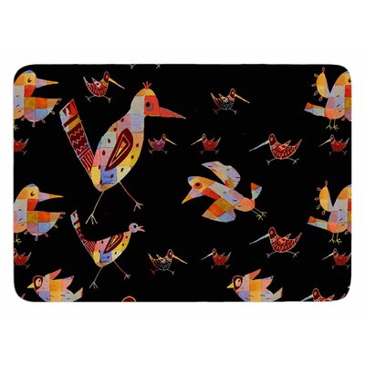 Birds on Black by Marianna Tankelevich Bath Mat