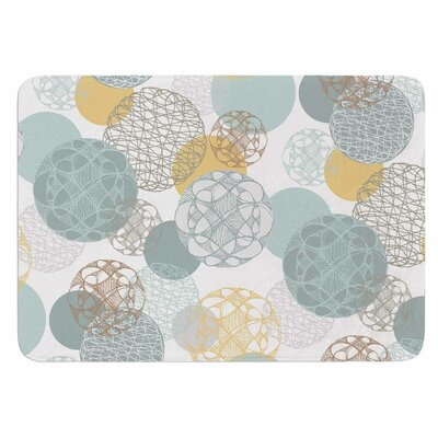 Floating Circles Design by Maike Thoma Bath Mat