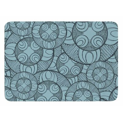 Layered Circles Design by Maike Thoma Bath Mat