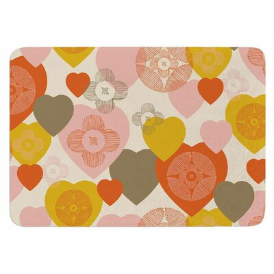 Retro Hearts Design by Maike Thoma Bath Mat