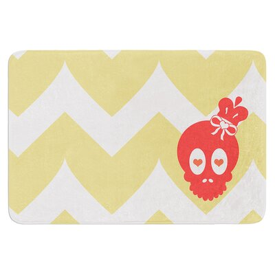 Skull II by Nick Atkinson Bath Mat
