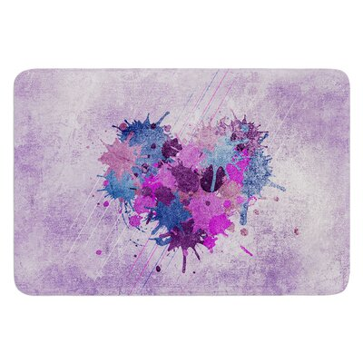 Painted Heart by Nick Atkinson Bath Mat
