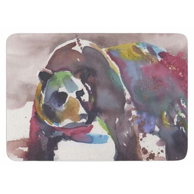 Grizzly Bear Watercolor Bath Mat