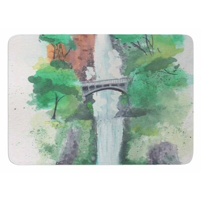 Multnomah Falls Watercolor Bath Mat