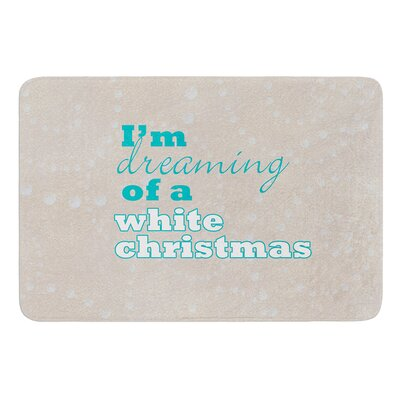 White Christmas Bath Mat