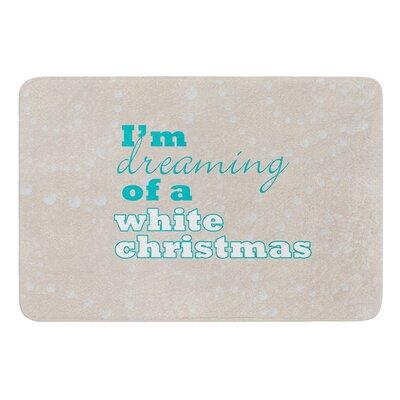 White Christmas Bath Mat