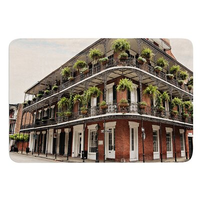 New Orleans Street Corner by Sylvia Cook Bath Mat