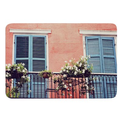 New Orleans Balcony by Sylvia Cook Bath Mat
