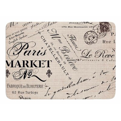 French Script by Sylvia Cook Bath Mat