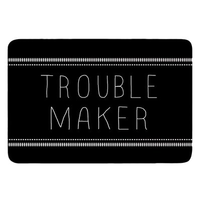 Trouble Maker by Skye Zambrana Bath Mat