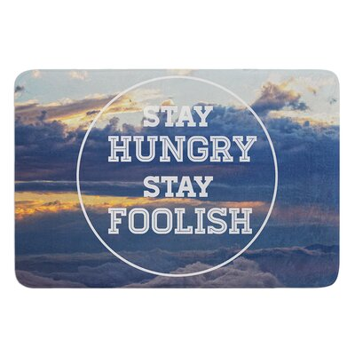 Stay Hungry by Skye Zambrana Bath Mat