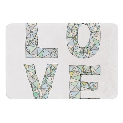 Four Letter Word by Skye Zambrana Bath Mat